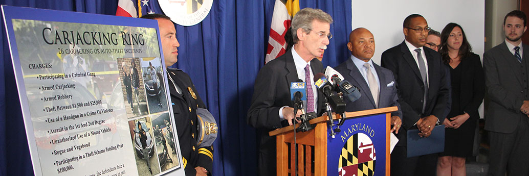 Attorney General Frosh Announces Indictments of Four Defendants for Participating in an Organized Carjacking Ring