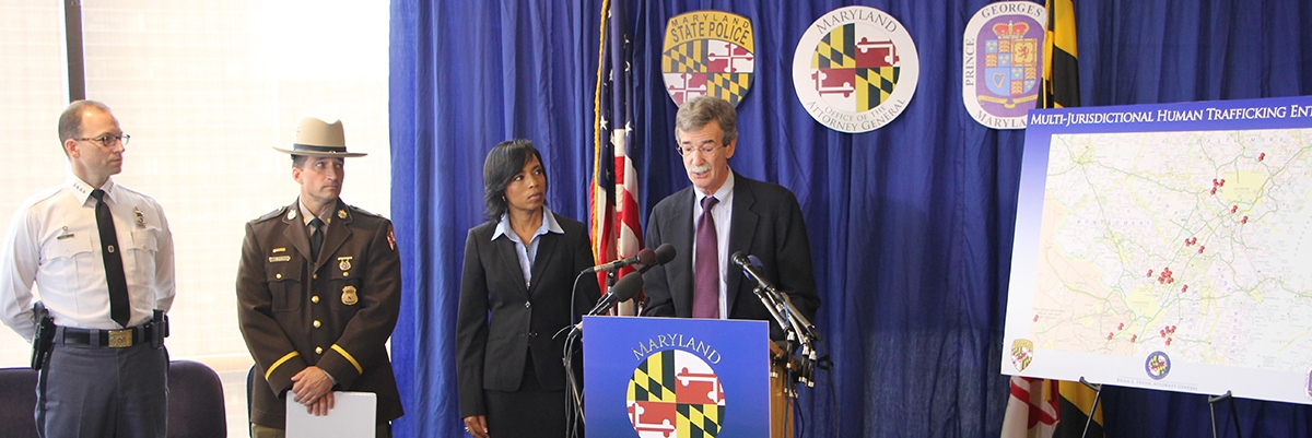 Attorney General Frosh at Human Trafficking press conference